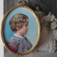 Miniature Portrait of a Young Edwardian Boy c.1910