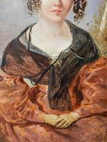 Victorian Oil Painting - Portrait of a Lady with Wringlets (5 of 9)