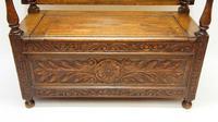 Early 20th Century  Oak Monks Bench (8 of 20)