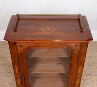 Music Cabinet Glazed Inlaid Walnut Bookcase 19th Century (2 of 10)