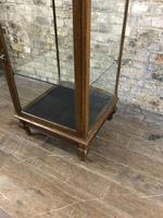 Antique Oak Bow Fronted Shop Cabinet (2 of 5)