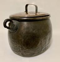 Large Antique Copper Cauldron with Lid (16 of 16)