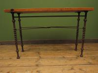 Wrought Iron & Wood Console Table with Glass Insert (11 of 14)