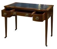 Inlaid Mahogany & Satin Banded Writing Table (5 of 7)