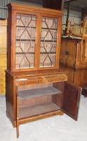 1910s Edwardian Quality Mahogany Chiffoniere Bookcase with Inlay (2 of 5)