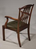 Excellent Quality Pair of Early 20th Century Chippendale Design Mahogany Elbow Chairs (5 of 6)