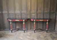 Painted French Console Tables