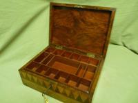 Large Tunbridge Ware Style Jewellery Box - Original Tray c.1870 (2 of 16)
