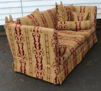 1900s Parker Knowle Drop End Sofa in Gold and Red. (3 of 3)
