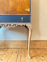 Vintage Burr Walnut Louis XV Style Drinks Cabinet (11 of 12)