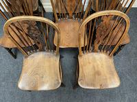 Harlequin Set of 8 18th Century Windsor Dining Chairs (8 of 15)