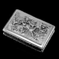 Rare Antique Georgian Solid Silver Mazeppa Snuff Box - Edward Smith 1836 (5 of 23)