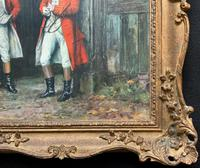 ''Before The Hunt'' Wonderful Large Vintage 18th Century Style Print on Board Picture (10 of 12)