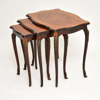 Antique French Inlaid Marquetry Nest of Tables (2 of 9)