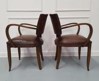 French Vintage Leather Desk Chairs c.1930 (4 of 5)