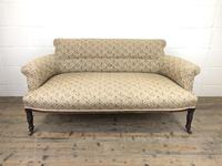 Victorian Three Piece Suite with Gold Floral Upholstery (15 of 26)