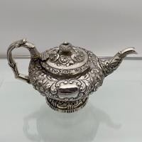 Antique George IV Sterling Silver Teapot London 1824 John Craddock & William Reid (3 of 11)