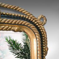 Very Large Antique Wall Mirror, English, Gilt, Overmantel, Dressing, Regency (7 of 12)