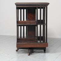 Victorian Rosewood Revolving Bookcase (2 of 8)