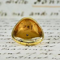 The Vintage 1987 Sunrise Diamond Signet Ring (4 of 7)
