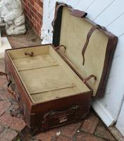 1910's Great Leather Storage Trunk with Cunard White Star Label (4 of 4)