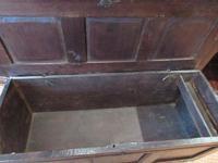 George I Period Oak Six Plank Coffer (6 of 10)