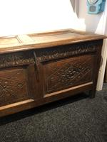 Carved Antique Coffer, English Oak Joined Chest, Trunk, c.1700 (8 of 8)