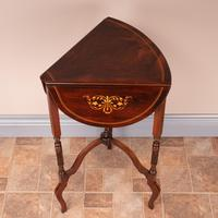 Edwardian Inlaid Rosewood Drop Leaf Occasional Table (15 of 23)