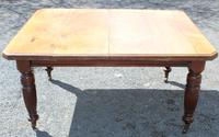 1920's Mahogany Dining Table with 2 x Leaves and Handle (3 of 6)