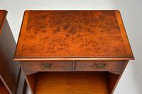 Pair of Antique Georgian Style Burr Walnut Bedside Cabinets (4 of 10)