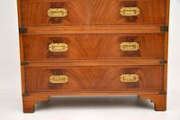 Antique Mahogany  Military Campaign Chest of Drawers (2 of 11)