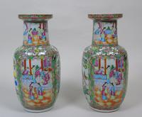 Good Large Pair of Chinese Famille Rose Rouleau Vases 19th Century (11 of 11)