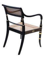 19th Century Regency Decorated Elbow Hall / Side Chair (4 of 9)