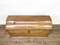 19th Century Antique Oak Dome Top Trunk (4 of 13)