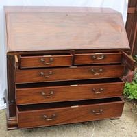 1960s Large Well Fitted Mahogany Bureax with Secret Drawer (4 of 6)