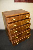 Lovely Walnut Art Deco Chest of Drawers (7 of 11)