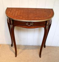 French Mahogany Demi Lune Table (5 of 10)