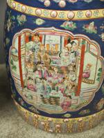 Pair of Chinese Qing Dynasty Painted Barrels / Seats (7 of 17)