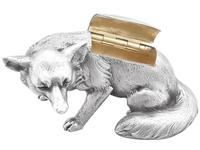 Sterling Silver Fox Boxes - George V 1926 (7 of 12)