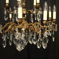 Italian Gilded 15 Light Antique Chandelier (2 of 10)
