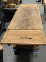 Superb Very Rustic French Oak Bleached Oak Farmhouse Dining Table (32 of 32)