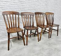Set of 4 Windsor Lath Back Kitchen Chairs c.1890 (5 of 5)