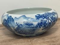 Interesting Chinese Meiping Qianlong Style Round Blue White Porcelain Bowl (5 of 26)