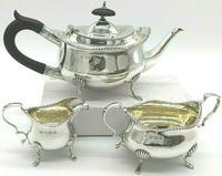 Edwardian Silver Tea Set by William Aitken Birmingham 1906