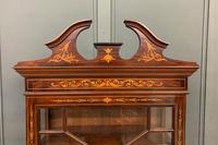 Edwardian Slender Inlaid Mahogany Display Cabinet (11 of 21)