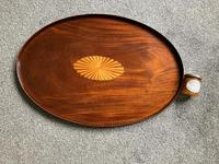 George III Figured Mahogany Oval Tray (6 of 6)