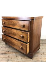Victorian Mahogany Chest of Three Drawers (10 of 14)