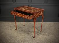 Dutch Marquetry Inlaid Walnut Side Table (4 of 12)
