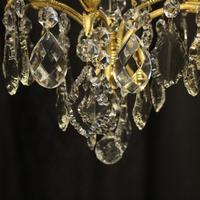 French Gilded Birdcage Antique Chandelier (7 of 8)