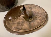 Large Antique Copper Cauldron with Lid (6 of 16)